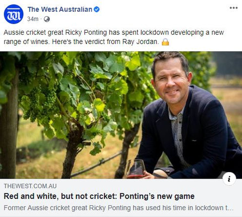 The West Australian Ponting Wines Article