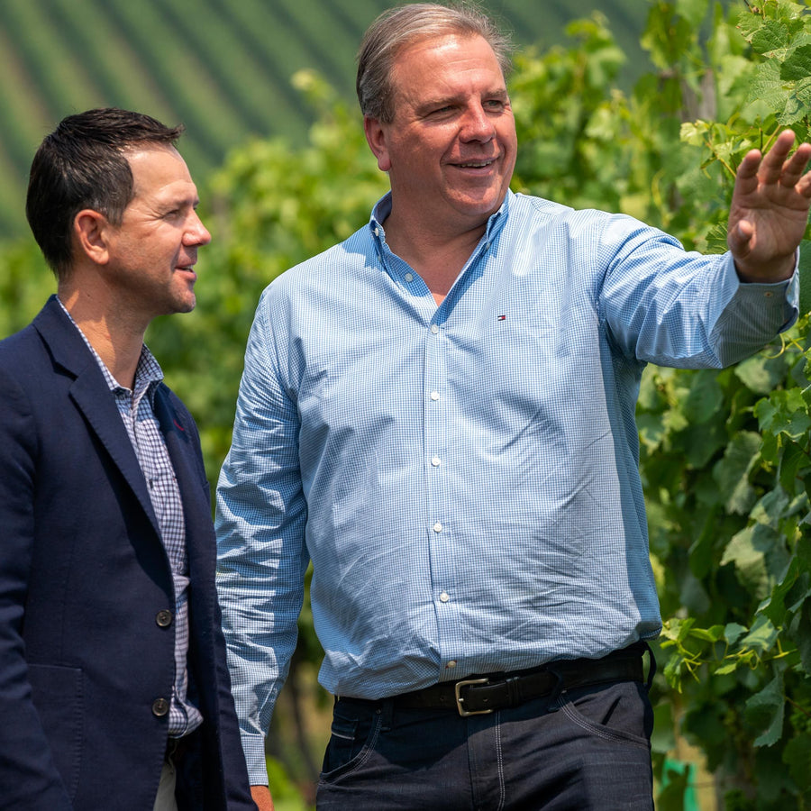 Ricky Ponting and Ben Riggs Collaboration for Ponting Wines