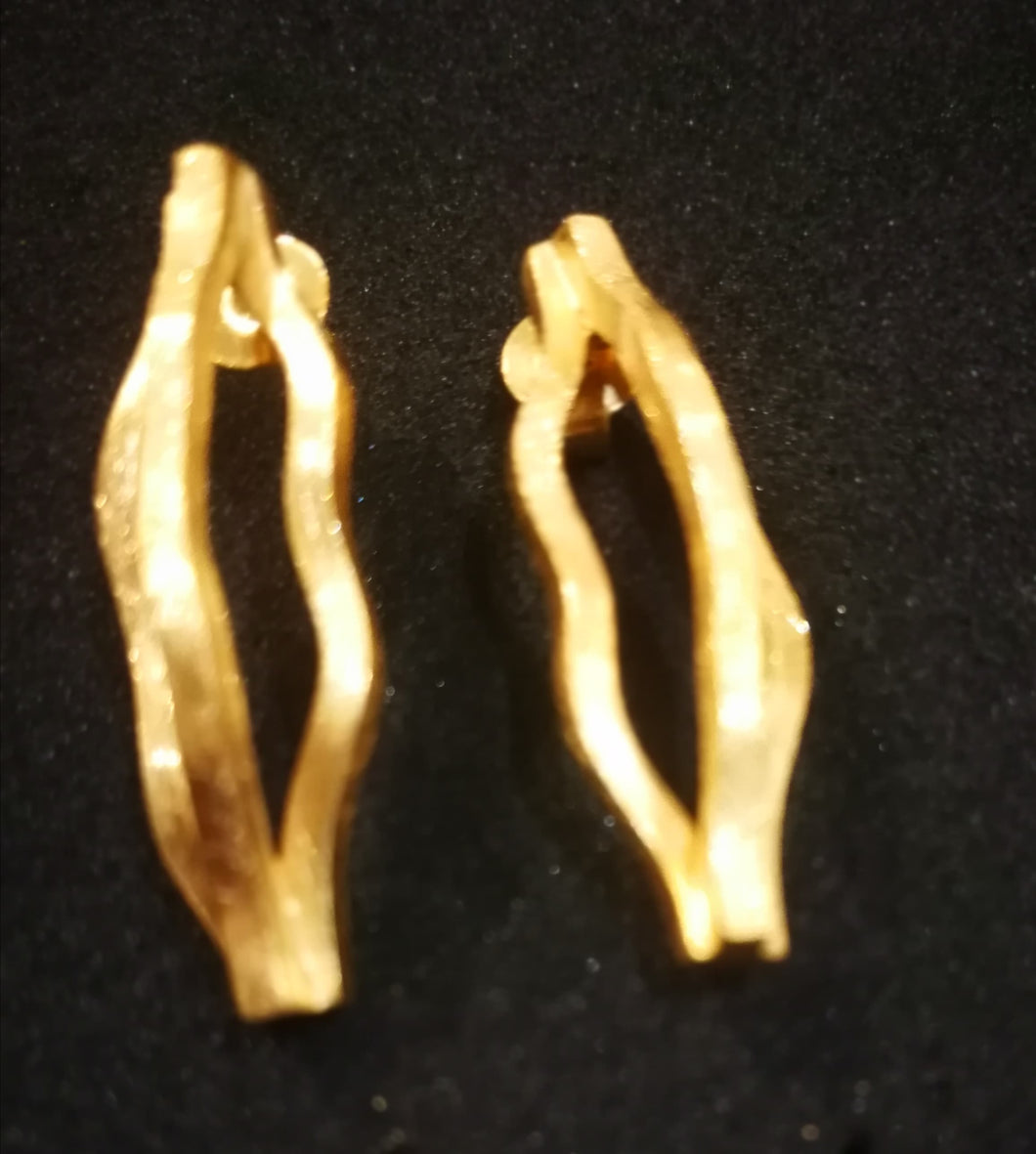 CURVES golden EARRINGS small