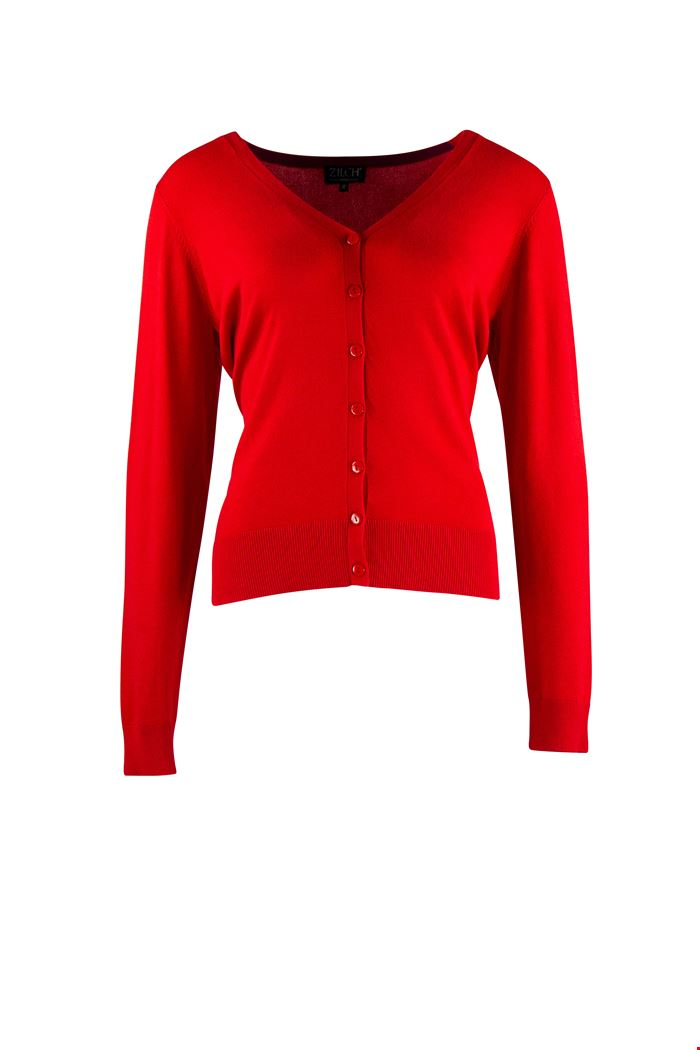 Zilch - cardigan v-neck RED