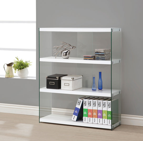 LIBRERO 4 WHITE SHELVES