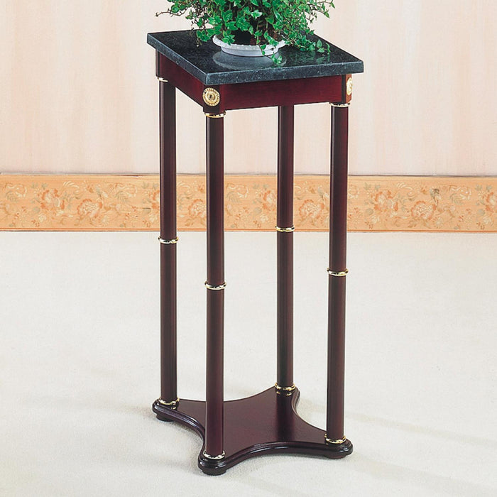 MESA PEDESTAL CHERRY GREEN SQUARE