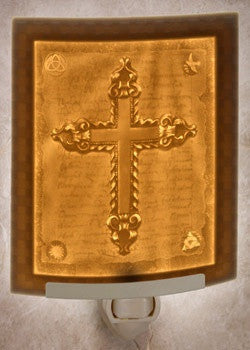Curved Night Light Cross