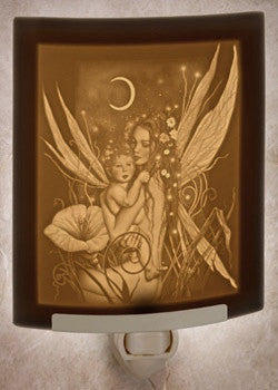 Curved Night Light Crescent Moon Fairy