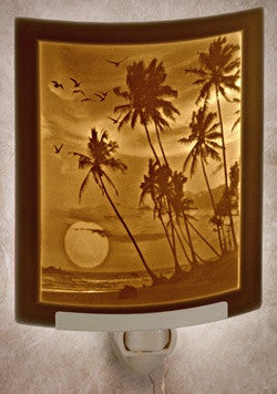 Curved Night Light Tropical Sunset