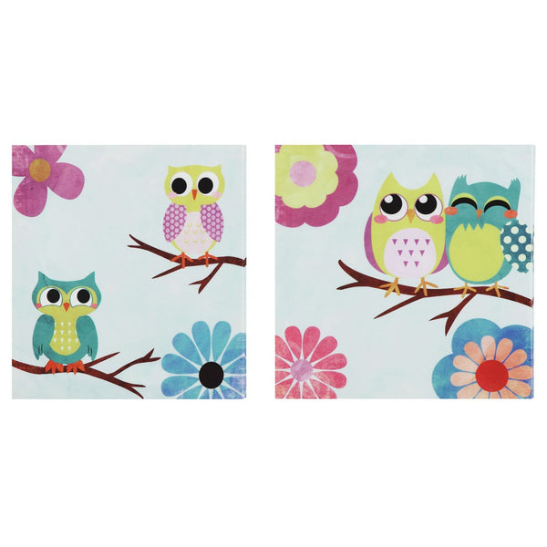 SET 2 CUADROS OWLS