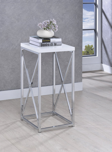 MESA LATERAL CHROME WHITE