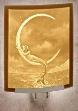 Curved Night Light Mermaid And The Moon