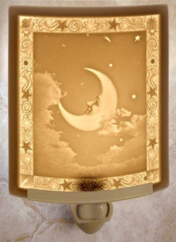 Curved Night Light Man In The Moon