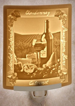 Curved Night Light Wine & Cheese