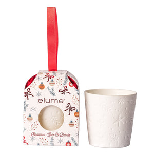 Elume Mini White Cinnamon Spice and Berries Candle