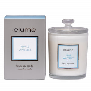 Elume Kiwi Waterlily 400g Soy Candle