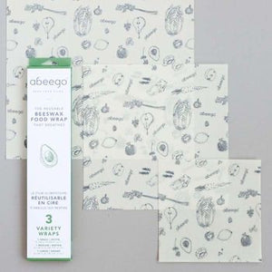 Abeego Beeswax Food Wrap - Variety Pack (S/M/L) *REDUCED TO CLEAR