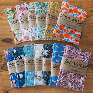 Scrubbies Washing Up Pads - Patterned