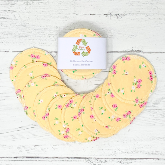 Ginger Green Organic Cotton Reusable Facial Rounds