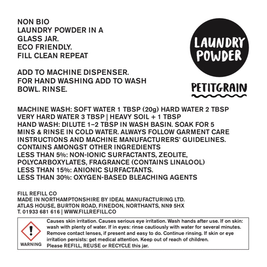 FILL Laundry Powder - Petitgrain