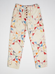Flying Geese Quilted Pant