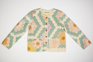 Grandmother's Flower Garden Quilted Jacket