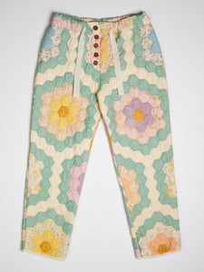 Grandmother's Flower Garden Quilted Pant