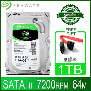 "Seagate 1tb Hard Drive Disk HDD Desktop Internal HD 1000GB 1T Harddisk 7200RPM 64M 3.5"" 6Gb/s Cache SATA III for PC Computer"