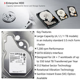 "TOSHIBA 4TB Enterprise Class Hard Drive Disk HDD HD Internal SATA III 6Gb/s 7200RPM 128M 3.5"" Harddisk Harddrive 24/7 24X7 Gaming"