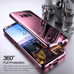 2019Latest!!!360 Degree Full Body Case Soft HD Screen Protection Protector Film Ultralight Slim Hard Mirror Chrome Electroplate Cover for Samsung Galaxy Note8/Note9