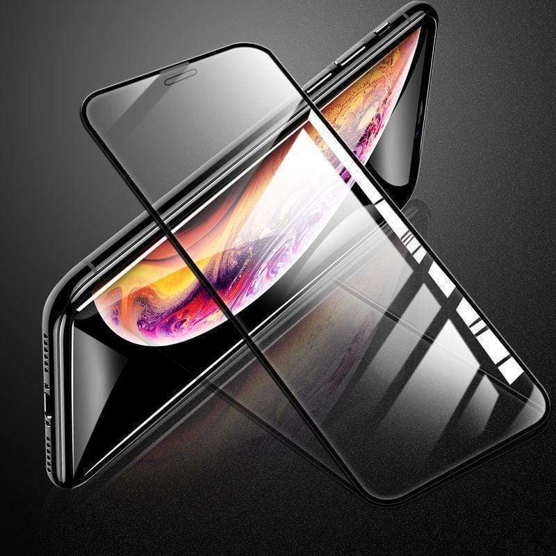 3 in 1 Tempered Glass+PET Back Film+Lens Post iPhone HD Full Screen Silk Screen Tempered Film 7D Transparent Protective Film for iPhone X/XS/XS Max/XR/8/7/6/6s Screen Protective