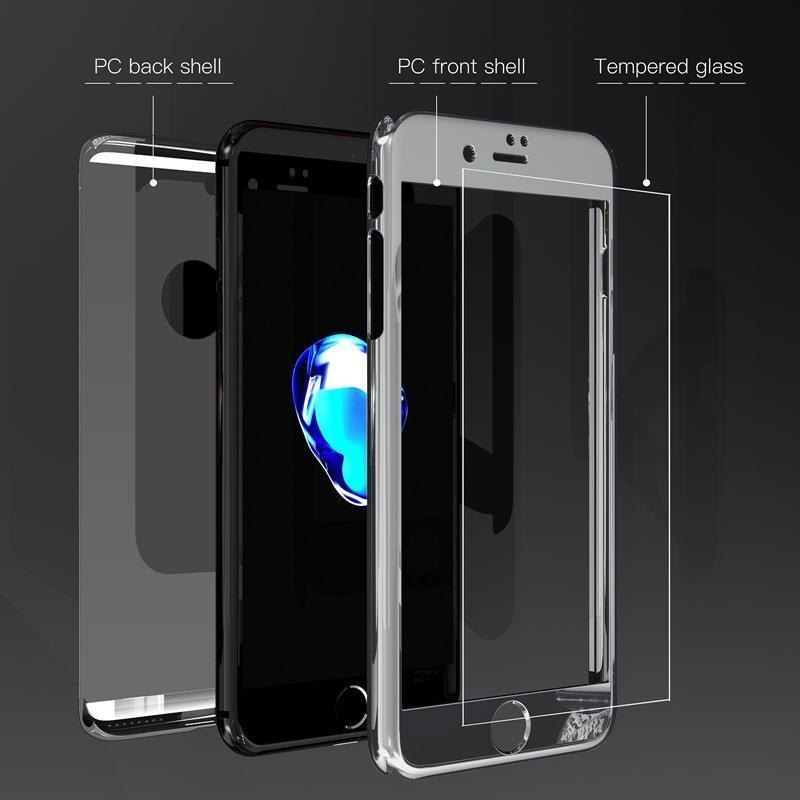 360 Degree Full Body Case Soft HD Screen Protector Film Ultralight Slim Hard Mirror For iPhone5/5S 5SE