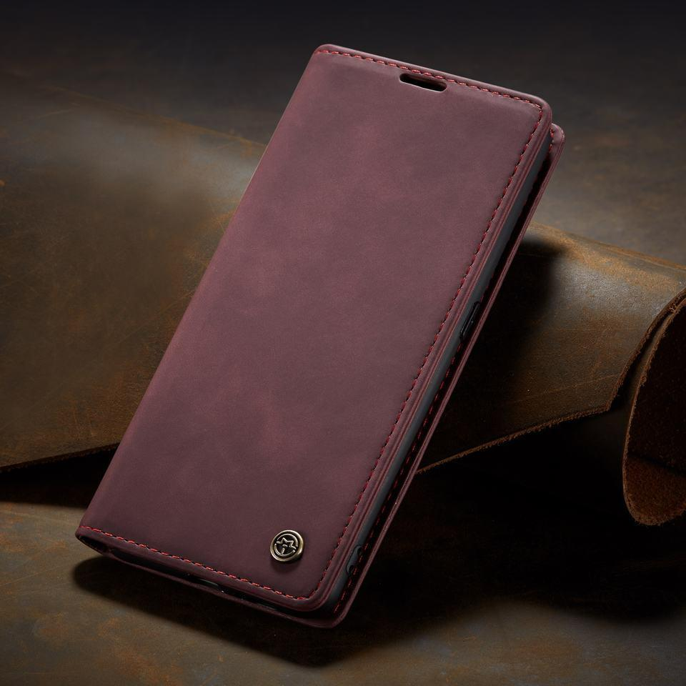Magnetic Matte Leather Luxury Wallet Card Stand Flip Phone Case For Samsung S7, S7Edge, S8, S8+, S9, S9+, S10, S10+, A20, A30, A50, A70, A80,NOTE 8, NOTE 9, NOTE 10+, NOTE 10