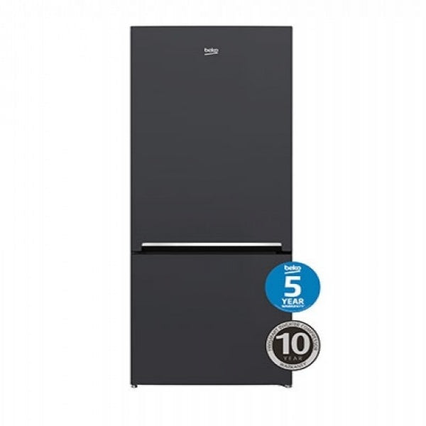 BEKO BBM450AN 450L Anthracite Bottom Mount Fridge/Freezer