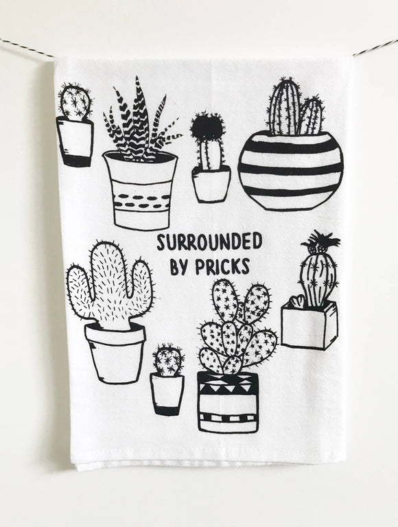 Surrounded by Pricks Cotton Kitchen Dish Towel