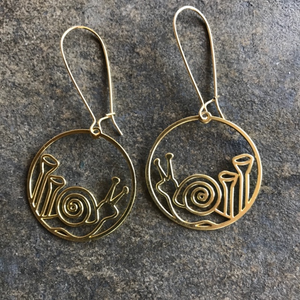 Friendly Snails Earrings