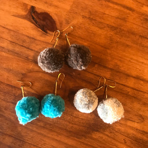 Single Pom Pom Earrings