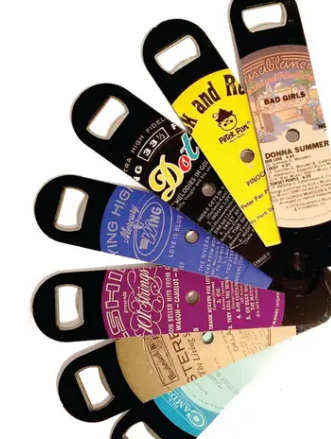 Vinyl Record Bottle Opener