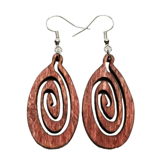 Natural Birch Earrings