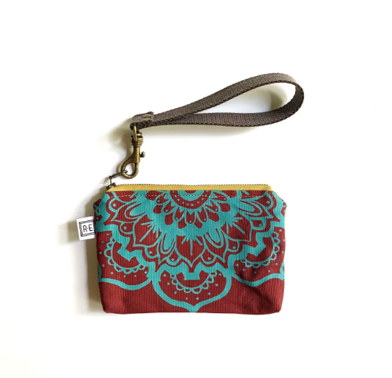 Lotus Clutch Bag, Mini Wristlet