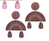 Dangle Drop Wood Earrings