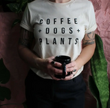 T-Shirt, Coffee Dogs Plants