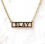 """Word"" Gold Necklaces"