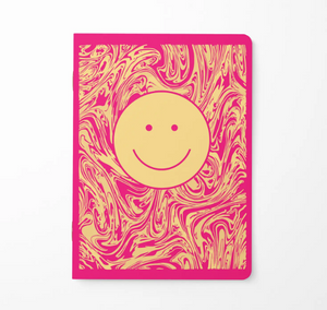 Fuchsia Happy Face 6 Month Planner