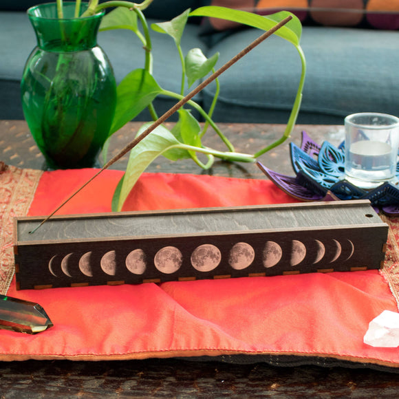 Moon Phases Full Color Stick Incense Box