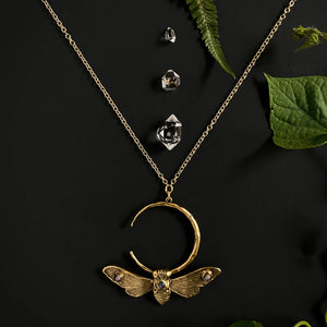 Cicada Song Crescent Neckpiece