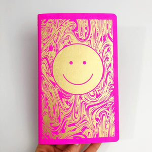Smiley Dot Notebook in Fuchsia