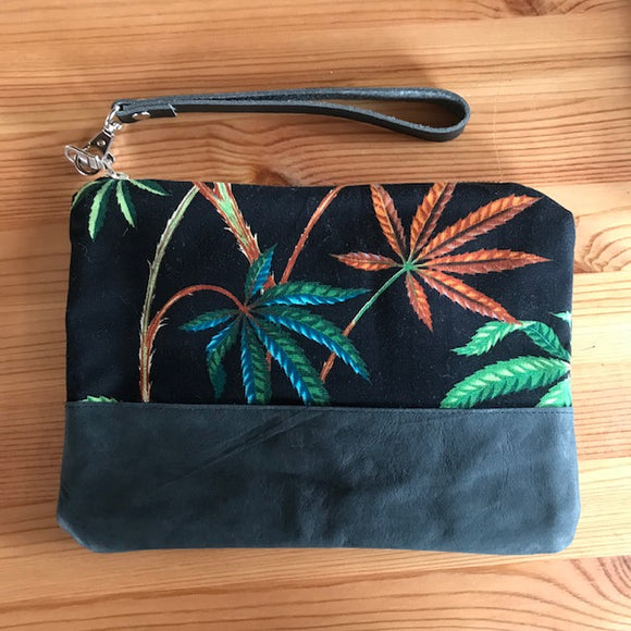 Pot Leaf Wristlet Bag