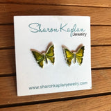 Large Butterfly Stud Earrings
