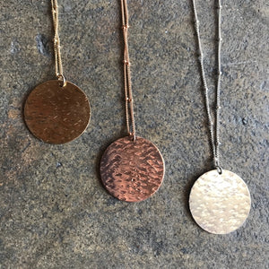 Mixed Metal Disc Necklace