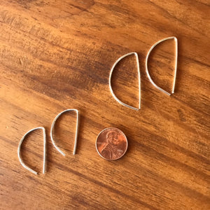 Geometric Sterling Silver Threaders
