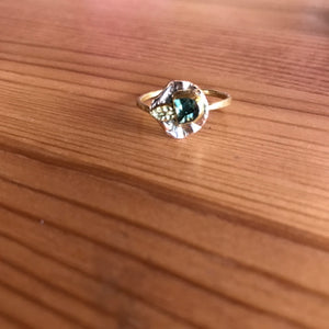 Z 14k Rose Gold Tourmaline Ring
