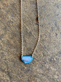 Glass Enamel Half Moon Necklace