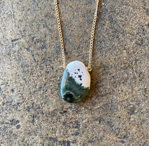 Ocean Jasper Raw Necklace, Larger